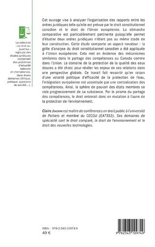4eme Protection de la qualité des eaux douces au Canada et dans l'Union européenne