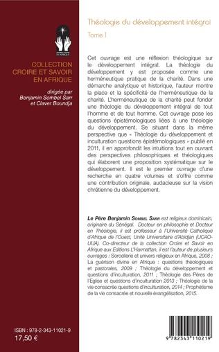 4eme Théologie du développement intégral Tome 1