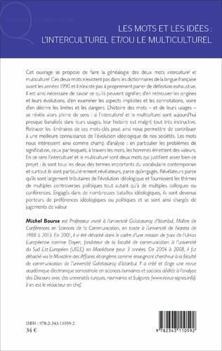 4eme Les mots et les idées : l'interculturel et/ou le multiculturel