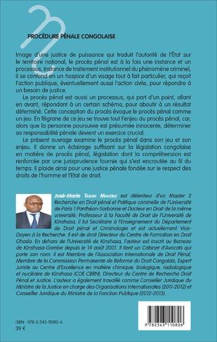 4eme Procédure pénale congolaise