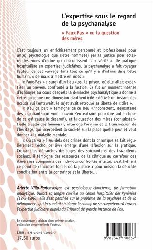 4eme L'expertise sous le regard de la psychanalyse