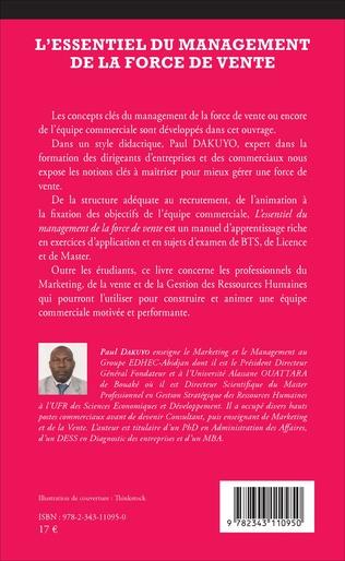 4eme L'ESSENTIEL DU MANAGEMENT DE LA FORCE DE VENTE