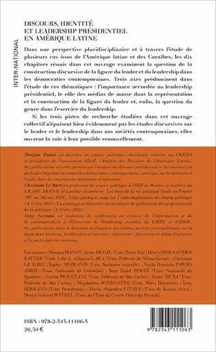 4eme Discours, Identité et Leadership présidentiel en Amérique Latine