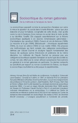 4eme Sociocritique du roman gabonais