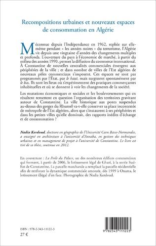 4eme Recompositions urbaines et nouveaux espaces de consommation en Algérie