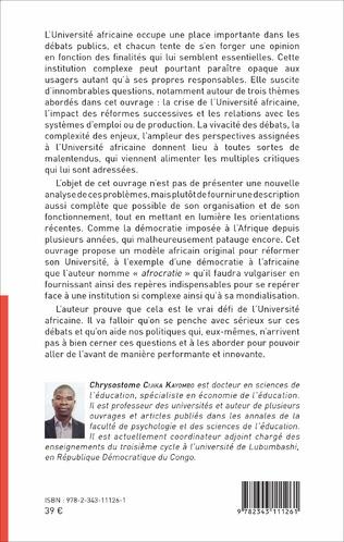 4eme L'enseignement supérieur et universitaire en Afrique