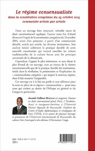 4eme Le régime consensualiste dans la constitution congolaise du 25 octobre 2015