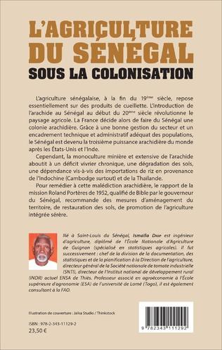 4eme L'AGRICULTURE DU SENEGAL SOUS LA COLONISATION