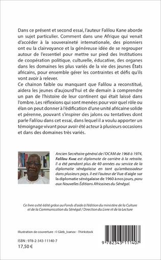 4eme OCAM Pionnière de l'intégration africaine