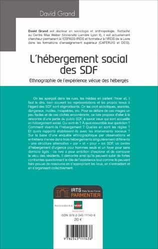 4eme L'hébergement social des SDF