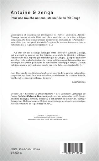 4eme Antoine Gizenga Pour une Gauche nationaliste unifiée en RD Congo