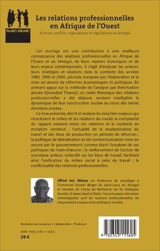 4eme Relations professionnelles en Afrique de l'Ouest