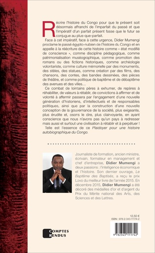 4eme Plaidoyer pour une histoire autobiographique du Congo
