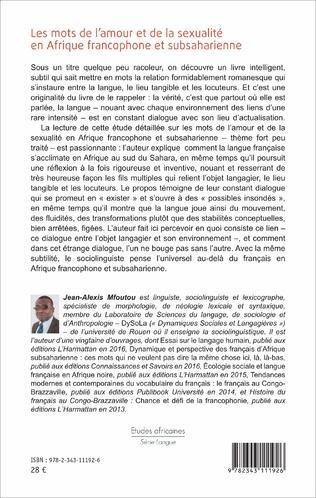 4eme Les mots de l'amour et de la sexualité en Afrique francophone et subsaharienne