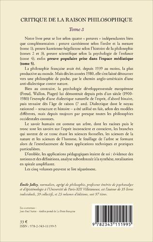 4eme Critique de la raison philosophique