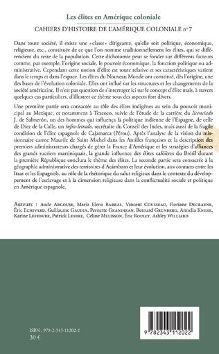 4eme Les élites en Amérique coloniale