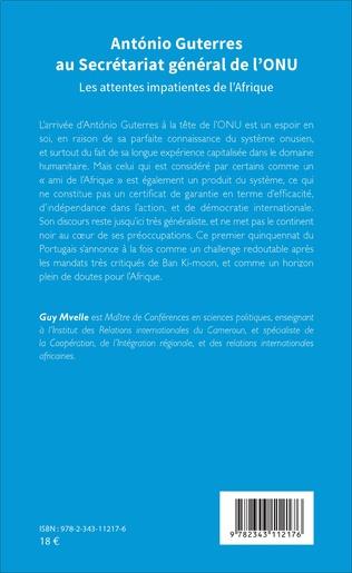 4eme Antonio Guterres au Secrétariat général de l'ONU