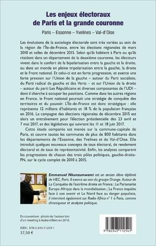 4eme Les Enjeux électoraux de Paris et la grande couronne