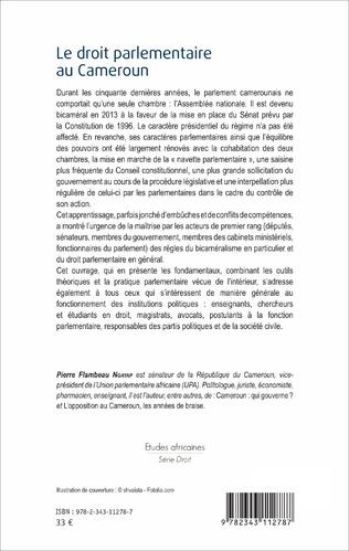 4eme Le Droit parlementaire au Cameroun