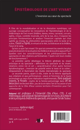 4eme Epistémologie de l'art vivant