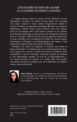 4eme L'écriture d'Amin Maalouf à la lisière de deux langues