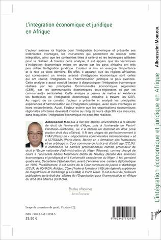 4eme L'intégration économique et juridique en Afrique