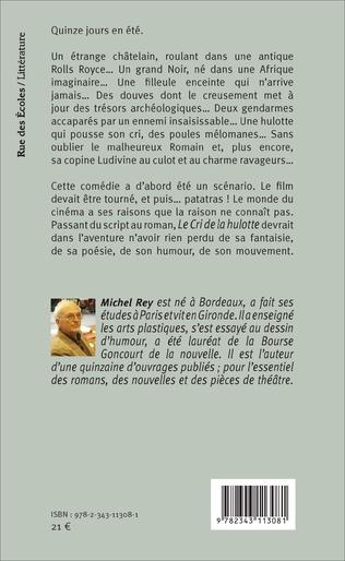 Le Cri De La Hulotte Roman Michel Rey Livre Ebook Epub