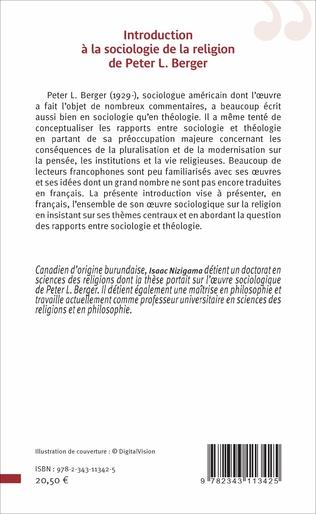 4eme Introduction à la sociologie de la religion de Peter L. Berger