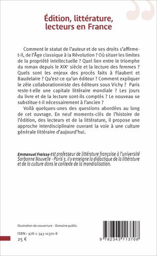 4eme Edition, littérature, lecteurs en France