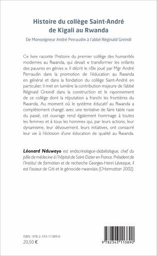 4eme Histoire du collège Saint-André de Kigali au Rwanda