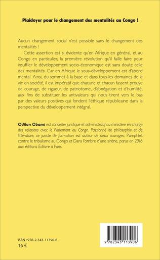 4eme Plaidoyer pour le changement des mentalités au Congo !