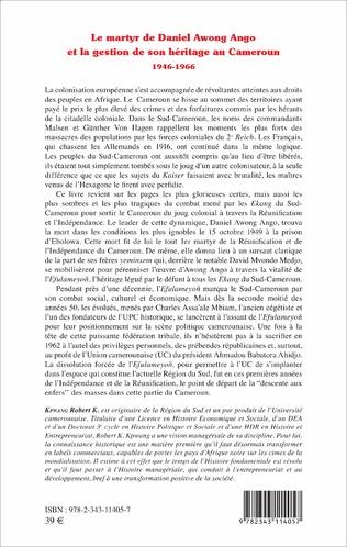 4eme Le martyr de Daniel Awong Ango et la gestion de son héritage au Cameroun