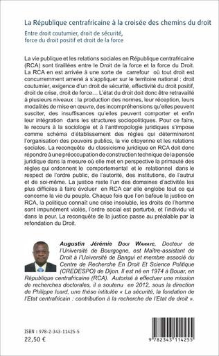 4eme La République centrafricaine à la croisée des chemins du droit