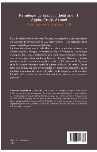 4eme Paradoxes de la scène théâtrale - I Appia, Craig, Artaud