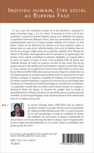 4eme Individu humain, être social au Burkina Faso