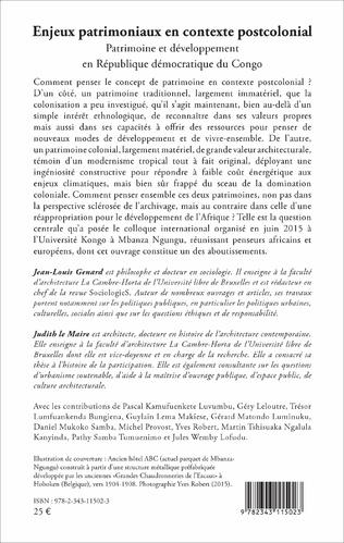 4eme Enjeux patrimoniaux en contexte postcolonial