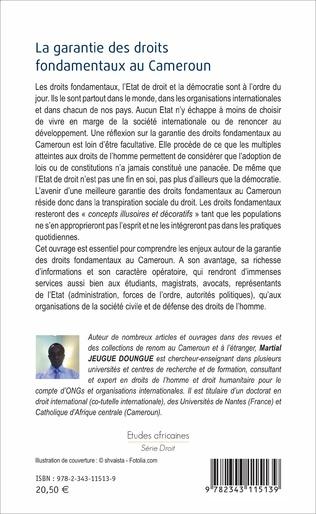 4eme La garantie des droits fondamentaux au Cameroun