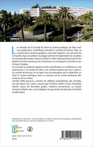 4eme Annales de la faculté de Droit et Science politique de Nice