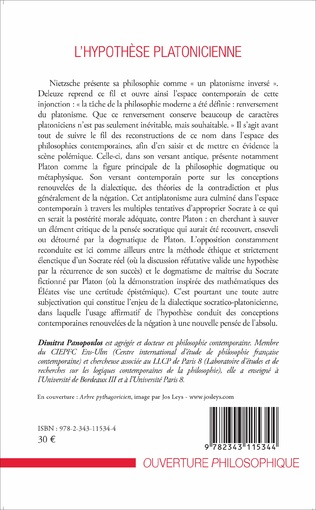 4eme L'hypothèse platonicienne
