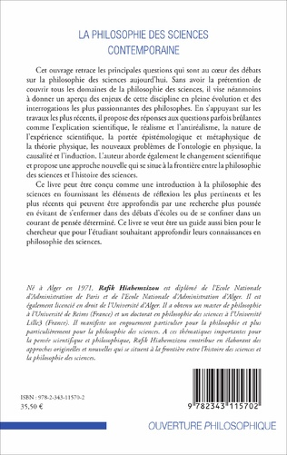 4eme La philosophie des sciences contemporaine