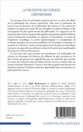 4eme La philosophie des sciences contemporaine