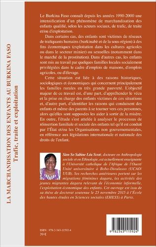 4eme La marchandisation des enfants au Burkina Faso