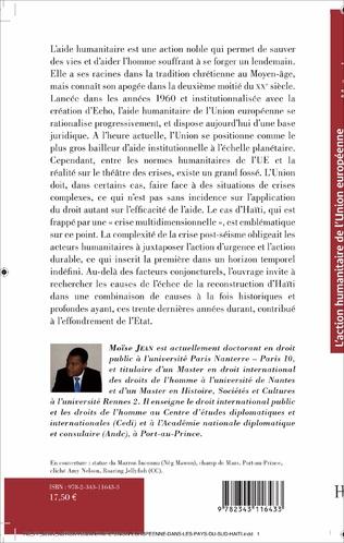4eme L'action humanitaire de l'Union européenne dans les pays du sud : le cas d'Haïti