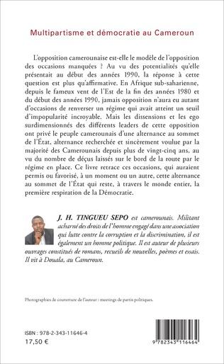 4eme Multipartisme et démocratie au Cameroun