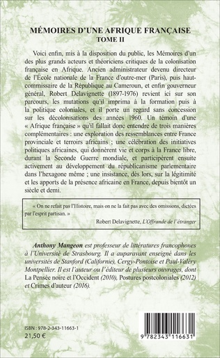 4eme Mémoires d'une Afrique française