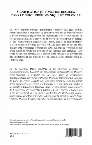 4eme Signification et fonction des jeux dans le Pérou préhispanique et colonial