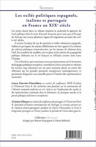 4eme Les exilés politiques espagnols, italiens et portugais en France au XIXe siècle