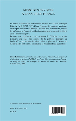 4eme Mémoires envoyés à la cour de France