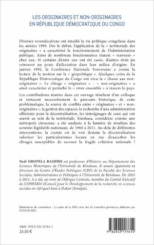 4eme Les originaires et non-originaires en République démocratique du Congo