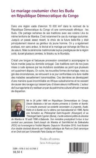 4eme Le mariage coutumier chez les Budu en République Démocratique du Congo